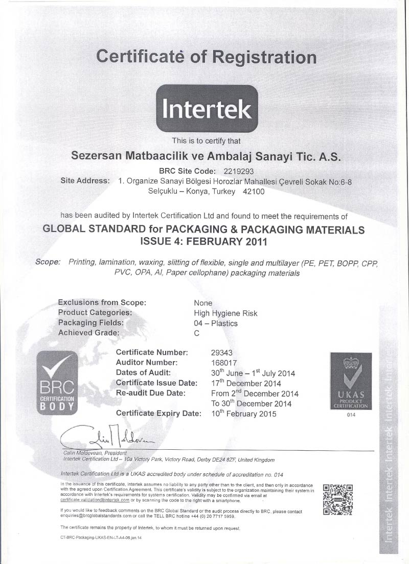 GLOBAL STANDART for PACKING & PACKAGING MATERIALS ISSUE 4